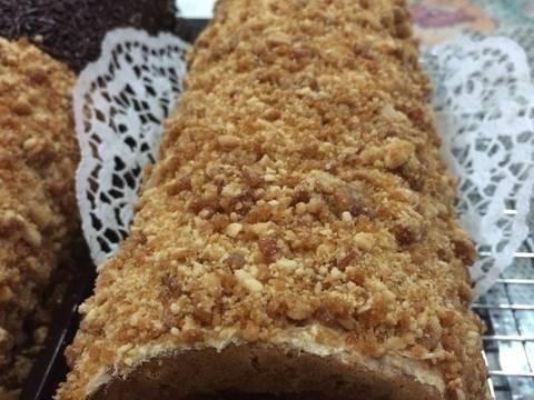 resep roll cake mocca nougat oleh diny ds   cookpad