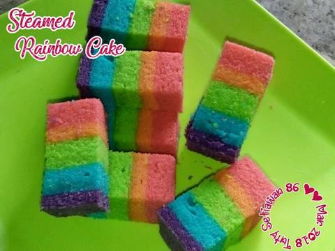 Resep Cara Membuat Steamed Rainbow Cake Mudah Resep Ala Chef