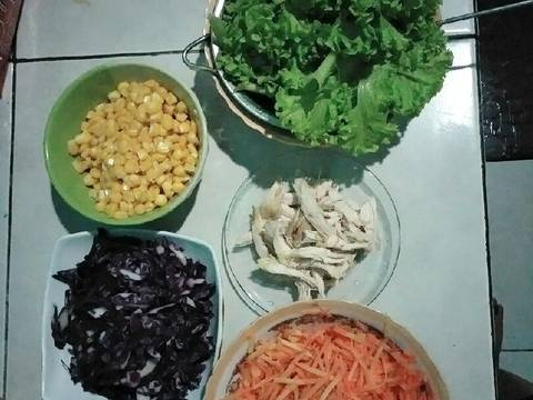 Vegetables and Chicken Salad Simple