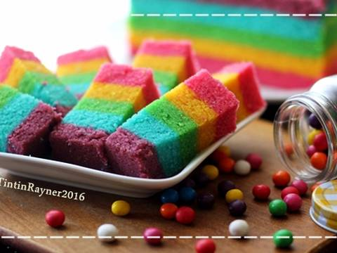 Resep Steamed Rainbow Cake Ny Liem oleh Tintin Rayner ...