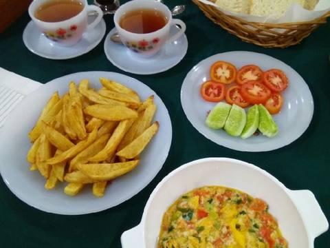 Menemen (telur orak arik khas turki)
