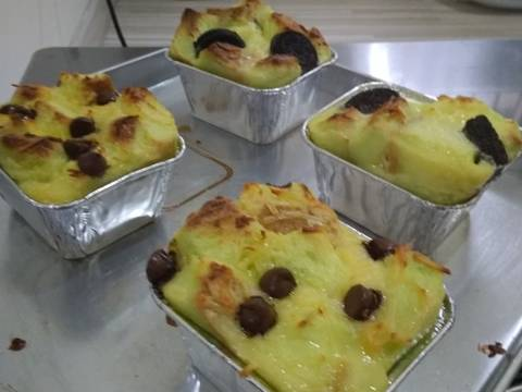Bread Pudding/Pudding Roti with 3 Topping #RabuBaru