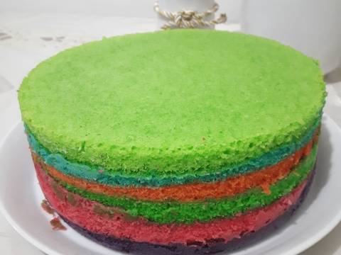 Rainbow cake kukus#BikinRamadanBerkasan