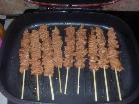 resep sate usus ayam pedas lezatt oleh tanti yosepha