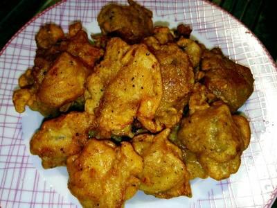 ไก่ทอดซอสพริกไทยดำแป้งกรอบ