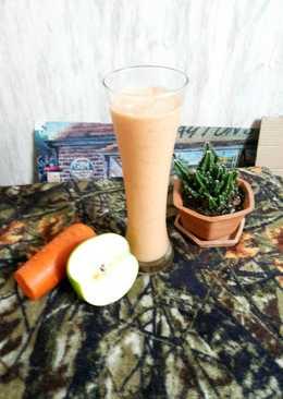 สมูทตี้นมถั่วเหลืองแอปเปิ้ลแคร์รอต (บำรุงผิวสวย)
