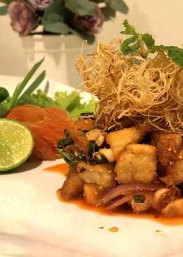 Thai Spicy Milky mushroom Salad ลาบเห็ดมิ้ลค์กี้3สไตล์