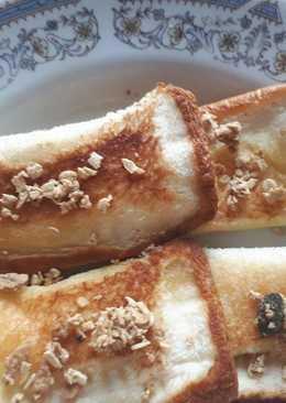 ขนมปังทอด ไส้นมข้นหวาน