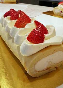 ชิฟฟอนโรลเค้กสตรอว์เบอร์รี่