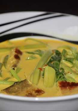 แกงเทโพผักบุ้งปลาเค็มเจ