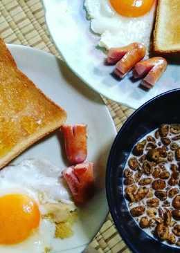 อาหารเช้าเบาๆ ☕ซีเรียลกาแฟนมสด