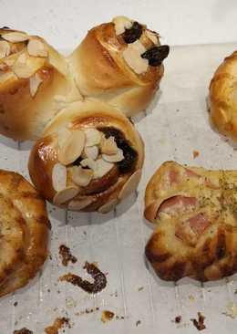 ขนมปังแฮมมายองเนส และ ชินนามอลโรล Cinnamon Roll เนื้อนุ่ม สูตรญี่ปุ่น