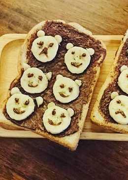 อาหารเช้าแบบง่ายๆถูกใจเด็ก ขนมปังนูเทล่า กล้วยๆ