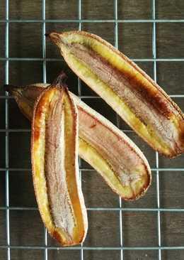 ของว่างคลีน100%ง่ายๆแต่อร่อย อยู่ท้อง กล้วยน้ำว้าอบ