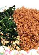 จิงจูฉ่ายผัดไข่ (ทานกับมาม่า)