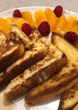 French toast แบบง่ายๆ #งบ60บาท