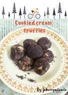 Cookie&cream truffles(วัตถุดิบ3อย่าง) #เบเกอรี่ง่ายๆ