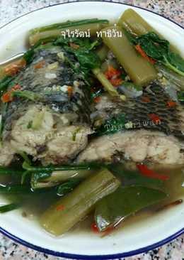 แกงปลาใส่สายบัว อาหารอีสาน