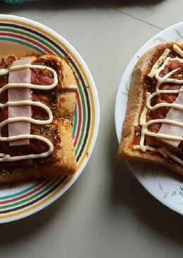 ขนมปังพิซซ่า หน้าแฮม