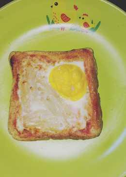 ขนมปังโฮลวีตหน้าไข่เห็ดหอม ด้วยหม้ออบลมร้อน