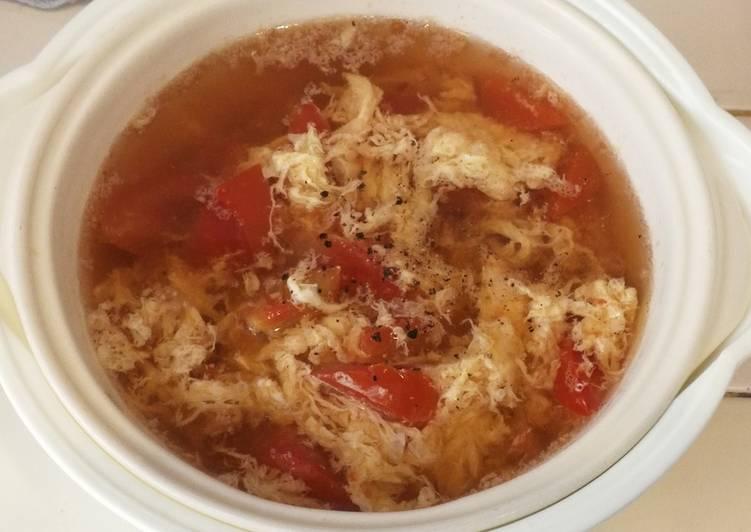 西红柿鸡蛋汤ซุปไข่มะเขือเทศ(มังสวิรัติ)