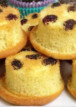 คัพเค้กลูกเกด สปั้นจ์ลูกเกด Raisin Muffins#ทำขายรวย