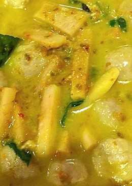 แกงเขียวหวานลูกชิ้นปลากราย