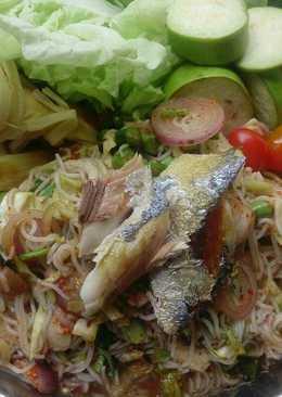 ยำขนมจีนปลาทูสูตรที่2