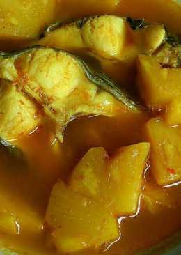 แกงส้มใต้ปลานิลใส่สับปะรด