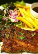 Pork Steak with Black Pepper Sauce