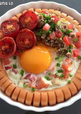 ~ Baked Egg in Sausage Ring~