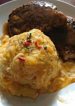ข้าวไข่ข้น+หมูพริกไทยดำ