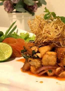 Thai Spicy Milky mushroom Salad (ลาบเห็ดมิลกี้3สไตล์)