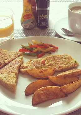 มันฝรั่งโฮมเมด (อาหารเช้า / ทานกับสเต๊ก)