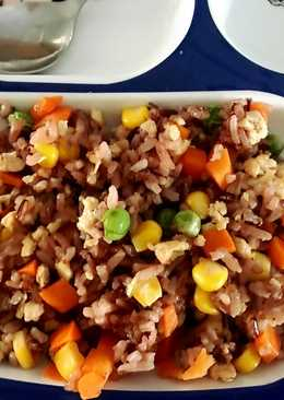 ข้าวผัดไก่เทอริยากิ (สูตรเด็กทานเนื้อสัตว์ยาก)อาหารคลีน
