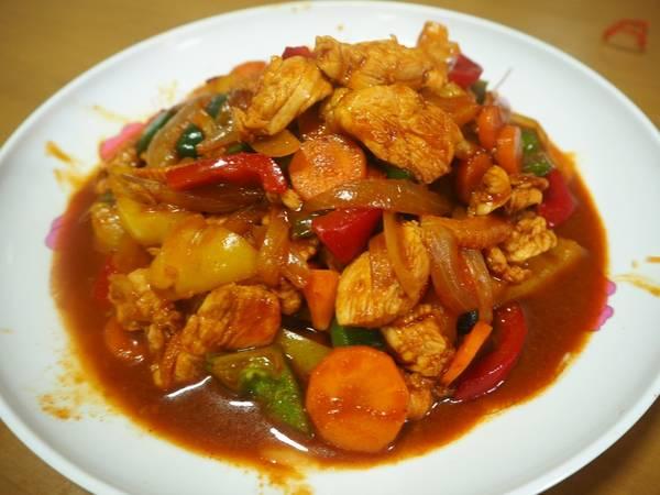 ไก่ผัดซอสโคชูจัง