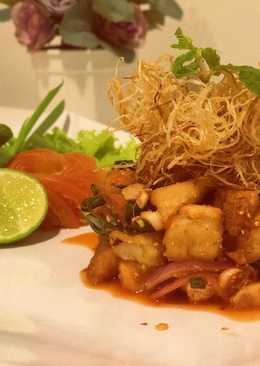 Thai Spicy Milky Mushroom Salad(ลาบเห็ดมิ้ลค์กี้3สไตล์) #Uncle&Friends #DTC2 #Main