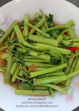 ผัดผักบุ้ง (เจ)