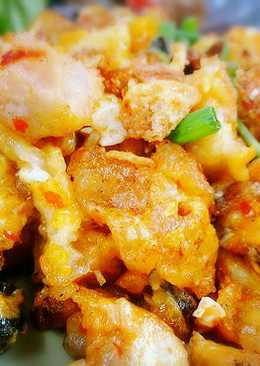 หอยแมลงภู่ผัดไข่นมสด