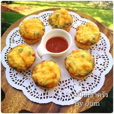 มัฟฟิน ไข่อบทรงเครื่อง ง่ายๆ สไตส์จุ๋ม muffins eggs