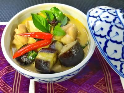 แกงเขียวหวานใส่มะเขือม่วง #อาหารไทยง่ายๆ