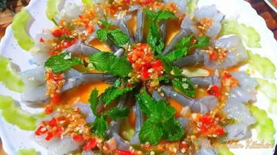 กุ้งแช่น้ำปลาโซดามะนาว