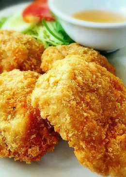 อกไก่ฉ่ำทอดเกล็ดขนมปังกรอบ
