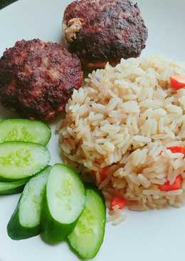 อาหารตุรกี Sebzeli pilav ข้าวหุงกับผัก