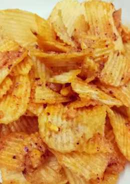 Snack khoai tây sốt trứng muối
