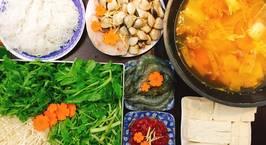 Hình ảnh món Lẩu kim chi hải sản