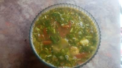 Canh tôm nấu dứa cà