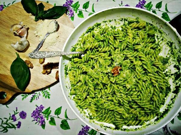 Mỳ Ý sốt Pesto (Pasta Pesto)