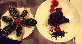 Hình ảnh món Steak và bánh mì bơ tỏi siêu dễ