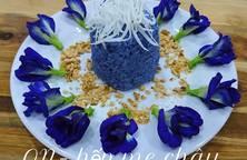 Xôi hoa đậu biếc cốt dừa